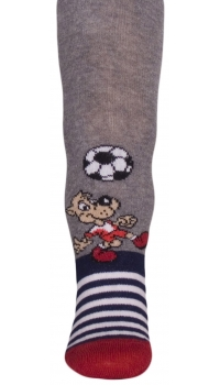 Children's patterned cotton tights for boys