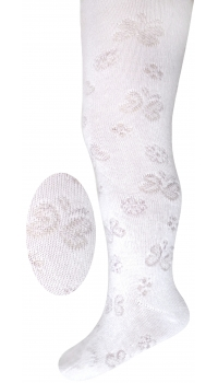 Children's jacquard cotton tights